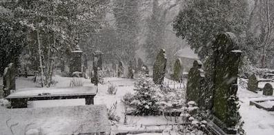Уборка места захоронения в зимнее время